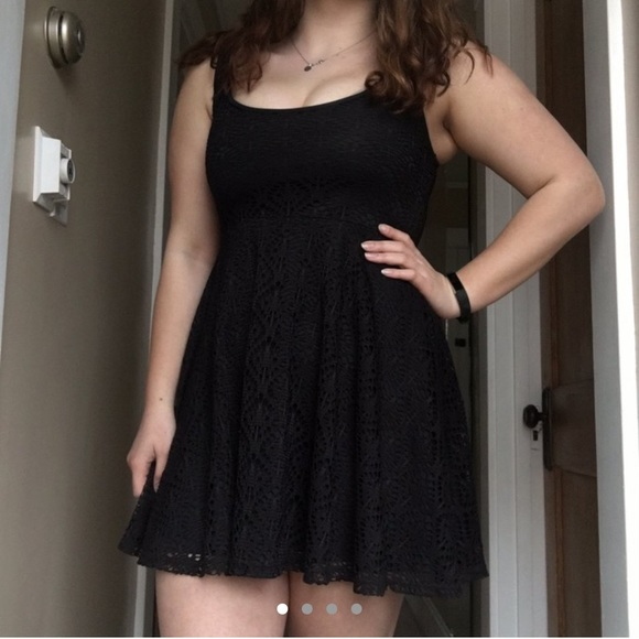 Aeropostale Dresses & Skirts - black lace fit and flare dress
